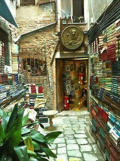 Libreria Acqua Alta, in Venice.