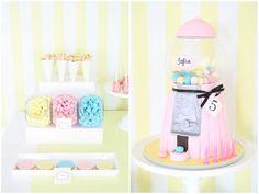 gumball machine cake via sweet style