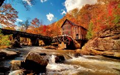 Grist mill @ Babcock State Park WV...from Bing images