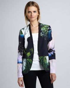 Forest-Print Jacket by Clover Canyon at Neiman Marcus.