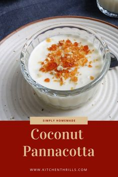 A homemade Coconut pannacotta made with tender coconut, coconut milk and condensed milk. A simple and easy creamy dessert recipe for a warm summer day. Make Ahead Desserts, Easy No Bake Desserts, Homemade Desserts, Great Desserts, Coconut Pudding, Coconut Milk, Coconut Panna Cotta, Jello Recipes, Dessert Recipes