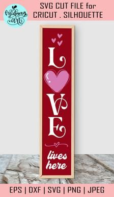 Love lives here porch sign svg valentine cut file valentines | Etsy Christmas Quotes, Christmas Svg, Welcome Winter, Front Porch Signs, Pattern And Decoration, Gifts For Coworkers, Valentines Diy, Journal Cards, Porch Decorating