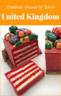 Battenburg Sleigh Cake Recipe - Check out this fun Battenburg Sleigh Cake by guest blogger Dan Tucker who runs his own Cake and Sugarcraft store in a lovely English Market Town. This is a fun cake to make for your Christmas dessert table!