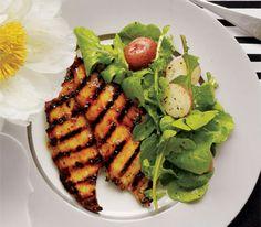 Marmalade Chicken With Arugula and Potato Salad
