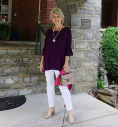 One Look Two Ways – SusanAfter60.com Fashion Bloggers Over 40, Fashion For Women Over 40, Mature Fashion, Capsule Outfits, Fashion And Beauty Tips, Fair Lady, Elegant Outfit, Fashion Outfits, Womens Fashion
