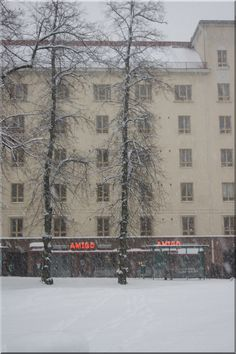 Snowy day in Eira Helsinki. Photo Aili Alaiso