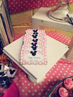 Minnie Party & Candy Bar By Saga Meetings  #Chocolate #Pink #Tags