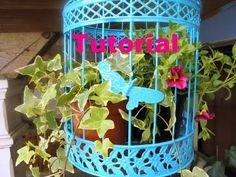 Tutorial Gaiola com flores - YouTube