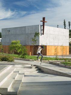 Capilla San Alberto Magno, Campus Curauma, Pontificia Universidad Católica de Valparaíso, Chile - Juan Pavez Aguilar + José Requesens Aldea - © Marcelo Cáceres A.