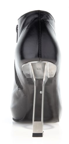 Womans shoe ( leather shine, stainless-steel heel)