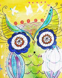 Ayahuasca Owl by Paola Gonzalez Munoz for The Art Club