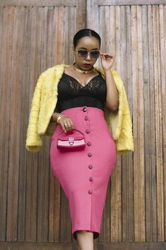 ~Fifty Shades Pink #joliethrone #fashionblogher #kenyanblogger #ootd #styleinspo #fashion #style #chic #badandboujee #fauxfur #highwaist #lace #curvystyle #classy #midiskirt Bad And Boujee, Fifty Shades, Curvy Fashion, Faux Fur, Midi Skirt, Personal Style, High Waisted Skirt, Ootd, Classy