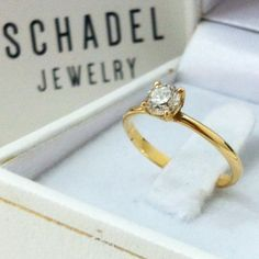 Engagement Ring for Beautiful Tal 18K yellow gold engagement ring, with beautiful brilliant white diamond. Made with great #Love ❤️ For more info- https://www.facebook.com/SchadelJewelry/posts/1000704996714747