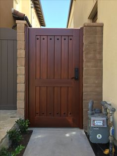 Custom Wood Gate by Garden Passages - Straight Top Side Gate