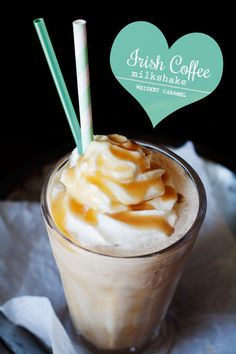 Irish Coffee Milkshake with Whiskey Caramel | hungrygirlporvida.com