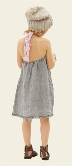 love this linen dress for girls