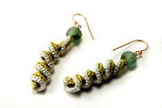 Spiral Twist Crochet Earrings