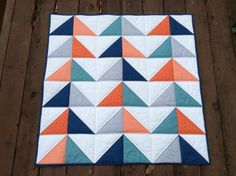 Modern Baby Boy Quilt by Alovelydaytosew on Etsy