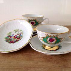 Xícaras de Chá Versalhes por LG Porcelanas