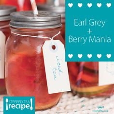 We blended Earl Grey de la Creme with Berry Mania and voila! Earl Grey Berry. Check out the recipe here: http://recipes.steepedtea.com/earl-grey-berry/