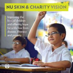 The Nu Skin Force for Good Foundation and CharityVision are combining efforts to answer the call for a brighter future for children in need of vision care and eyeglasses. Nu Skin, Best Foundation, Children In Need, Eyeglasses, Effort, Charity, Good Things, Future, Business
