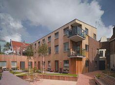 Seniorenhuisvesting in Haarlem door Döll - Atelier voor bouwkunst in samenwerking met Joost Swarte. Foto Christian Richters