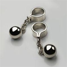 Ball & Chain Cufflinks in Sterling Silver - Mens Cufflinks - Designer Jewellery by Stephen Einhorn London