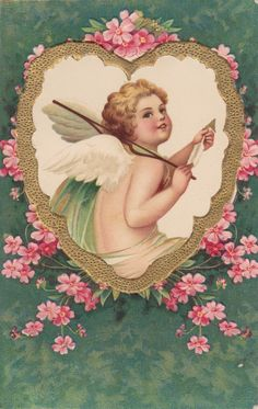 Wings of Whimsy: French Cherub In A Heart - free for personal use