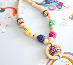 Hey, I found this really awesome Etsy listing at https://www.etsy.com/listing/113029289/bright-multicolor-nursing-necklace-mom