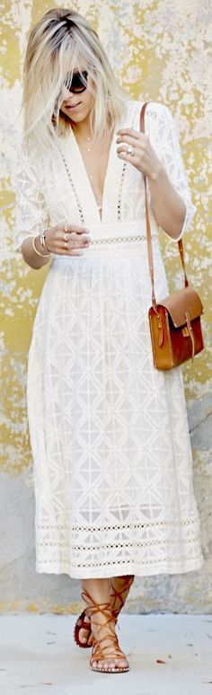(Love the dress) J.crew Camel Leather Lace Up Ankle Gladiator Flat Sandals by Damsel In Dior