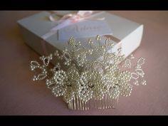 Arranjo de cabelo para noiva flores em pérolas | Adore Noivas - YouTube