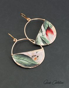 Hoop copper and fabric earrings gypsy style copper earrings Fabric Earrings, Fabric Jewelry, Tassel Earrings, Etsy Earrings, Hoop Earrings, Tribal Necklace, Short Necklace, Copper Earrings, Copper Jewelry