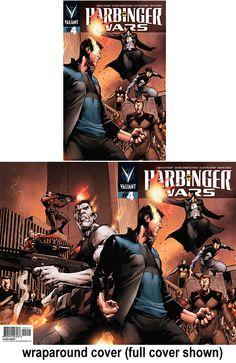 Harbinger Wars #4 (of 4) gatefold variant cover by Trevor Hairsine $4