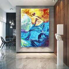 Handmade Wall Art Paintings Acrylic painting canvas image 1 Large Canvas Art, Large Painting, Acrylic Painting Canvas, Canvas Wall Art, Black Canvas, Original Paintings, Original Art, Office Wall Art, Office Decor
