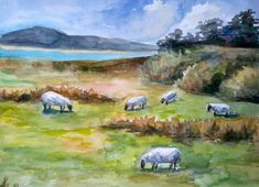 Watercolor Paintings Nature, Watercolor Paper, The Art Sherpa, Ireland Landscape, Acrylic Painting Canvas, Original Paintings, Original Art, Sculptures, Decor Ideas