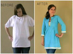 Men's T-shirt Makeover to Schoolhouse Tunic