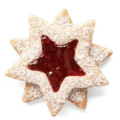 Based on the famous Linzer torte, these cookies combine the classic nutty and fruity elements but in a smaller package. Stars are nice, but by all means use cookie cutters of any kind.