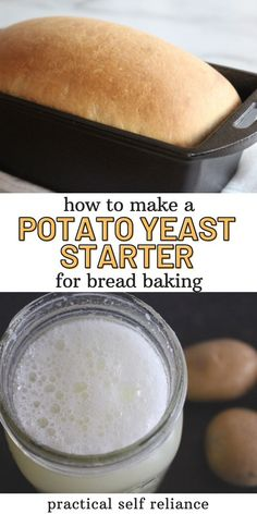 No yeast at home? Here's a simple alternative! Try culturing your own wild yeast on potatoes! All you need is one medium-sized potato, a bit of water and smidge of patience. Use your potato starter for all kinds of easy bread baking recipes! Yeast Bread Recipes, Sourdough Recipes, Quick Bread Recipes, Easy Bread, Baking Recipes, Whole Food Recipes, Healthy Breads, Healthy Baking, All You Need Is