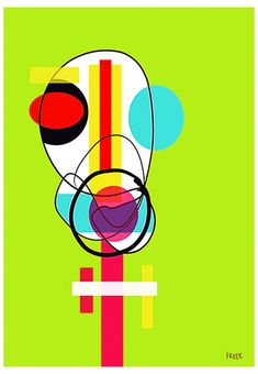 Stish Bop by Sam Freek - Contemporary art prints for the modern home - #art #artprint #abstractart #portrait