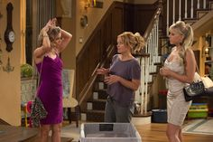 The Full House reboot stars original cast members, from left, Andrea Barber, Candace Cameron Bure and Jodie Sweetin Full House Cast, Full House Tv Show, Fuller House Season 1, Full House Seasons, Stephanie Tanner, Candace Cameron Bure, Female Friendship, Embarrassing Moments, Getting Old