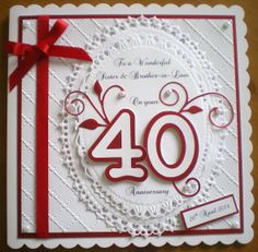 40th anniversary cards