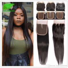 Unprossed Straight Brazilian Human Hair With Closure Rosa Hair Products… Rosa Hair, Lace Closure, Straight Hairstyles, Curly, Dreadlocks, Hair Products, Hair Styles, 4x4, Beauty