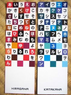 Learning Japanese Bookmarks--how handy!  And I love the colors.