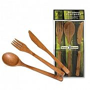 Bamboo Fork  These well-crafted bamboo utensils are ideal for picnics, camping, the beach - anywhere you want to be outdoors and thinking eco-friendly. Very light weight, washable and sustainably sourced from bamboo. Goes great with our mango wood boards for a cheese and charcuterie plate! Comes in knife, spoon or fork, sold separately.