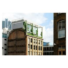 Gorgeous Rooftop Garden Apartment Grows Above a Warehouse in London ❤ liked on Polyvore featuring home and outdoors