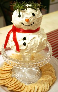 Snowman Cheese ball Recipe perfect for the upcoming holidays!!!