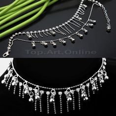 New Silver Tassel Crystal Rhinestone Jewelry Chain Anklet Ankle Bracelet Gifts US $2.42 Shipping: FREE Economy Shipping from outside US