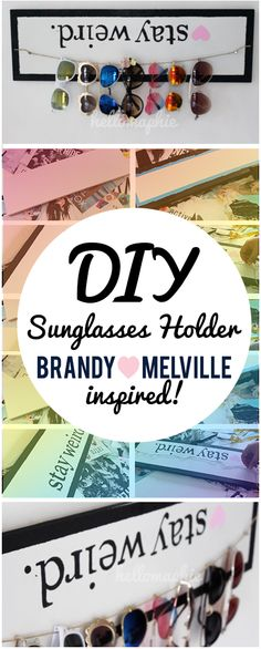 DIY Sunglasses Holder BRANDY MELVILLE Inspired