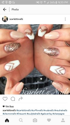 Rose gold, white and nude                                                                                                                                                                                 More