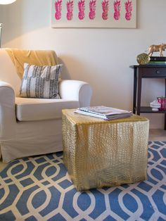 DIY floor pouf, I would see it shorter so that it's straighter and more firm.